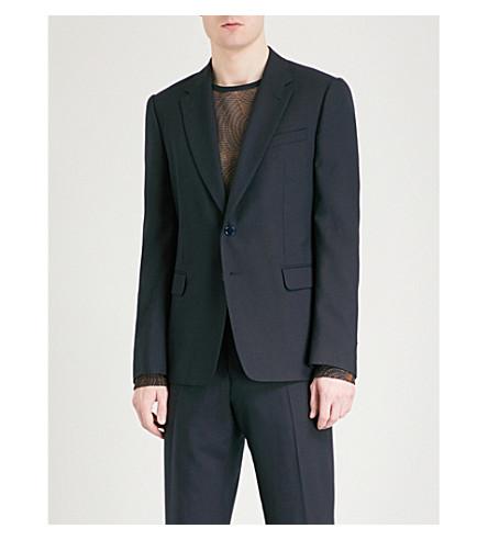 DRIES VAN NOTEN Blaine tailored-fit wool blazer (Navy