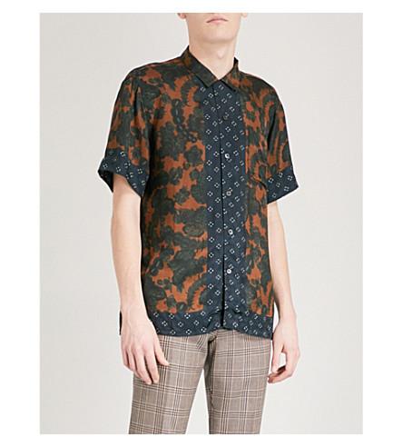 DRIES VAN NOTEN Carlton regular-fit satin shirt (Brown