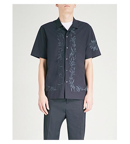 DRIES VAN NOTEN Carlton regular-fit cotton shirt (Navy