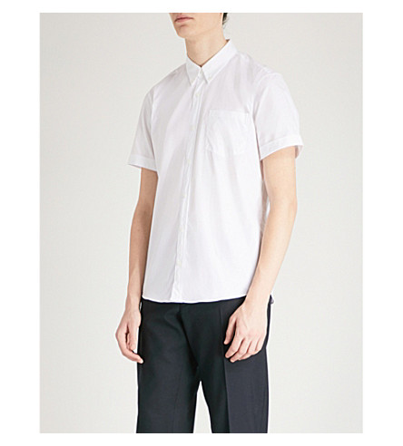 DRIES VAN NOTEN Cheney regular-fit cotton-poplin shirt (White