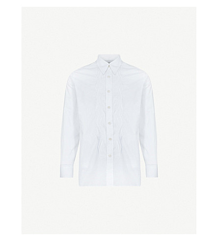 DRIES VAN NOTEN Chevion regular-fit cotton shirt (White