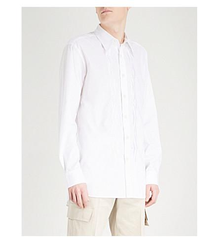 DRIES VAN NOTEN Chevion regular-fit cotton shirt (White