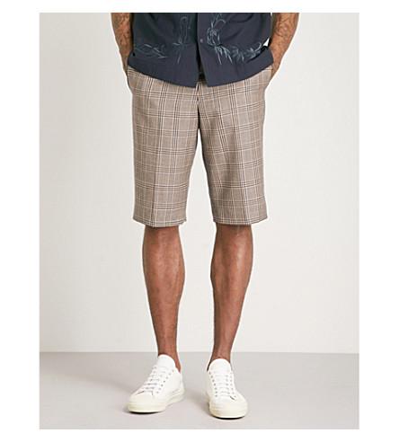DRIES VAN NOTEN Palgrace checked wool shorts (Sand
