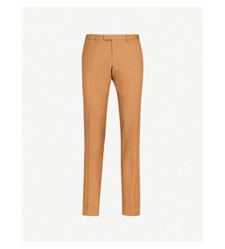 DRIES VAN NOTEN Regular-fit tapered wool trousers (Camel