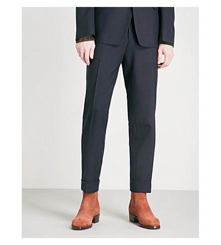 DRIES VAN NOTEN Philip slim-fit tapered wool trousers (Navy
