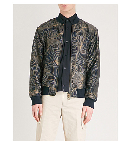 DRIES VAN NOTEN Volker shell bomber jacket (Navy