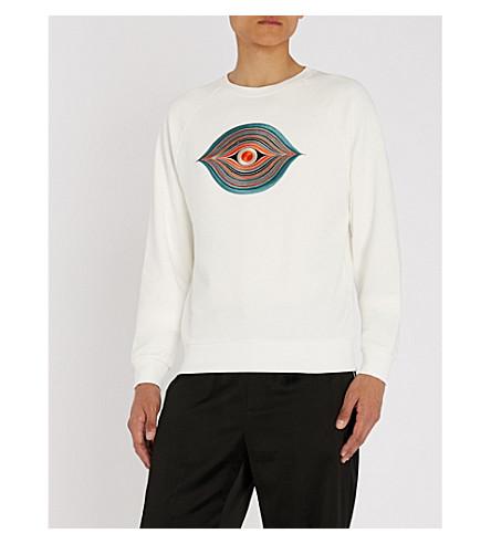 VAN algodón de bordado Ecru con DRIES Sudadera NOTEN de jersey ocular p7n6Yw