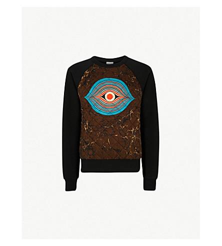 DRIES VAN NOTEN Eye cotton-blend sweatshirt (Black