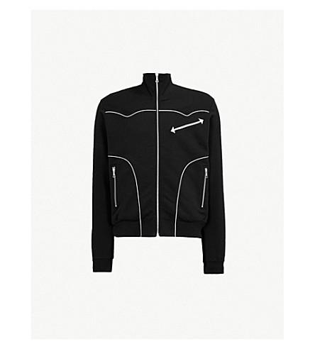DRIES VAN NOTEN Zip-up cotton-jersey jumper (Black