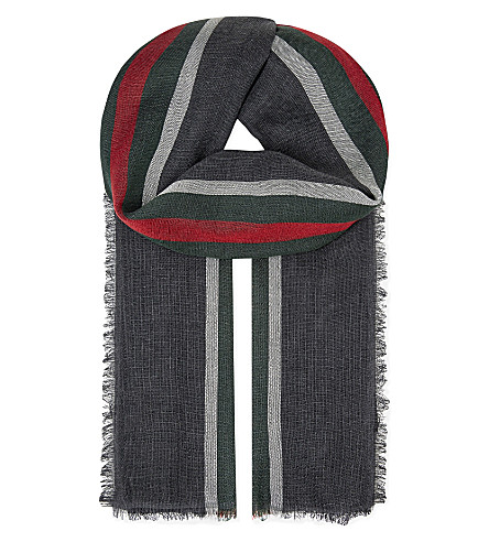 GUCCI Baku scarf (Grey+stripe