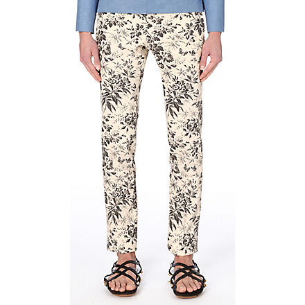 Gucci: Floral tapered trousers - Hiphunters Shop