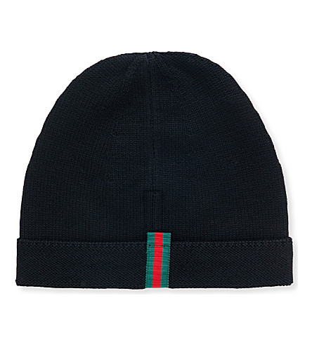 GUCCI Knitted wool beanie (Black