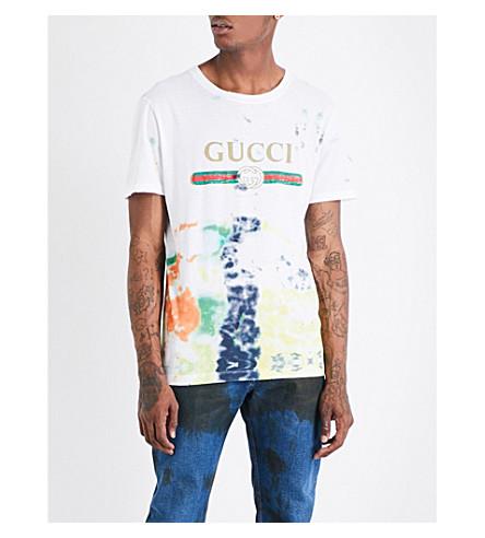 GUCCI Tie-dye cotton-jersey T-shirt (Multi