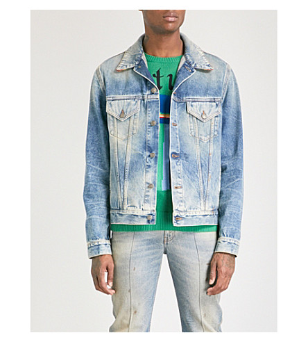 GUCCI Cemetery Forever denim jacket (Blue