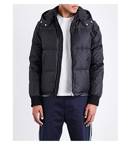 GUCCI Hooded logo-print shell jacket (Black