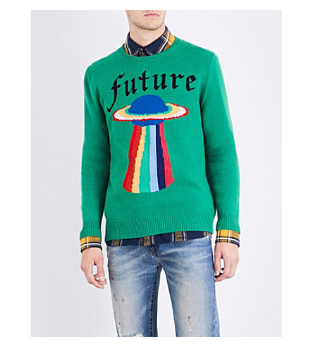 GUCCI Future UFO wool jumper (Green