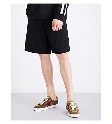 GUCCI Logo-print jersey shorts (Black