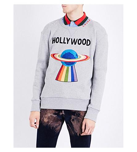 GUCCI Hollywood UFO cotton-jersey sweatshirt (Grey