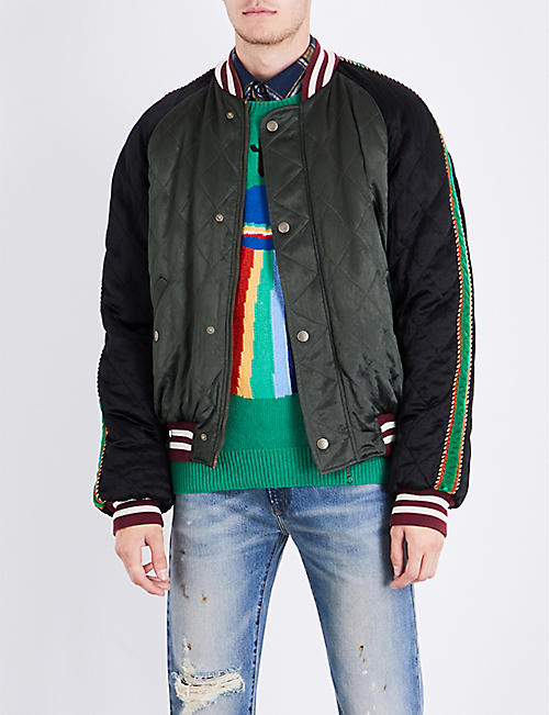 gucci zip up hoodie. gucci ufo-embroidered satin bomber jacket gucci zip up hoodie