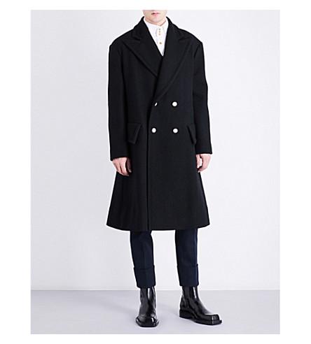 VIVIENNE WESTWOOD Double-breasted virgin wool coat (Black
