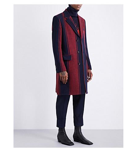 VIVIENNE WESTWOOD City striped wool coat (Bue+striipe