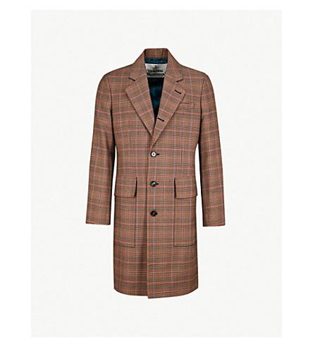 VIVIENNE WESTWOOD英国检查羊毛外套 (套版