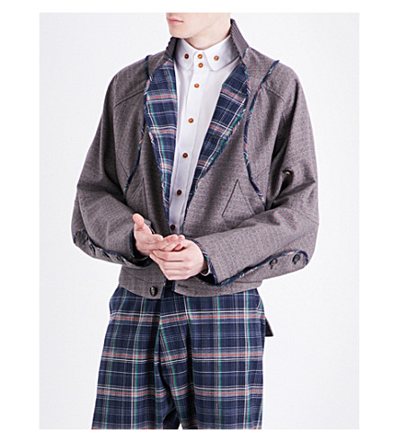 VIVIENNE WESTWOOD Checked cotton-blend jacket (Grey