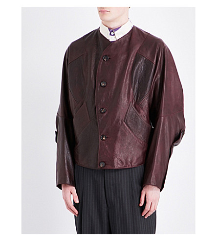 VIVIENNE WESTWOOD Panelled leather jacket (Burgundy