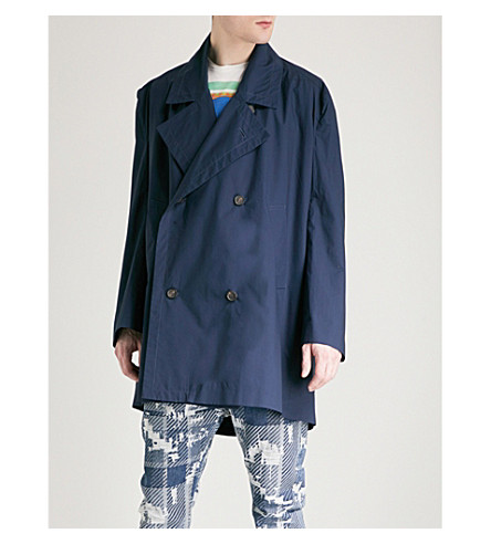 VIVIENNE WESTWOOD Double-breasted cotton jacket (Navy