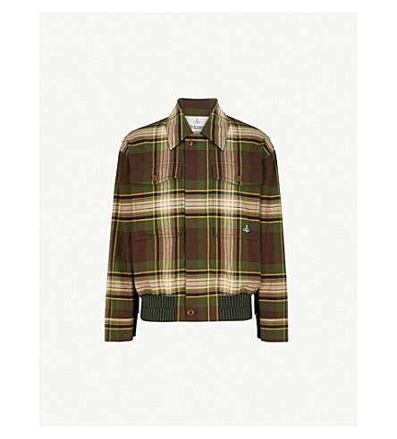 VIVIENNE WESTWOOD Tartan cotton Harrington jacket (Camu