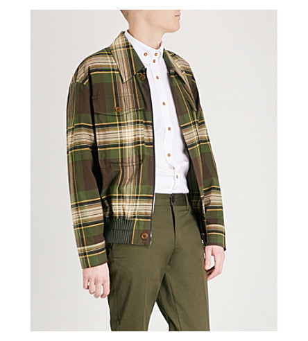VIVIENNE WESTWOOD Tartan cotton Harrington jacket (Camu