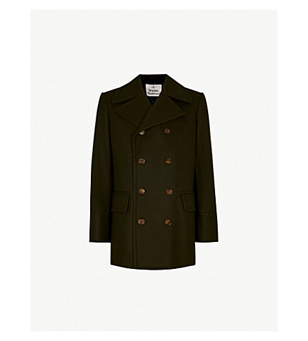 VIVIENNE WESTWOOD Double-breasted wool coat (Invisible+green