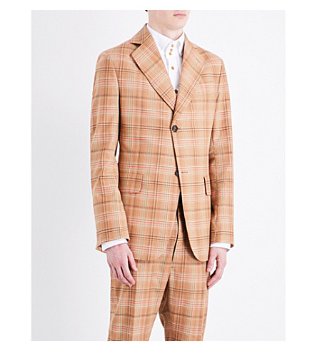 VIVIENNE WESTWOOD Checked cotton jacket (Multi
