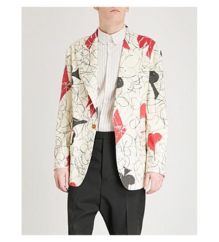 VIVIENNE WESTWOOD Abstract-print regular-fit wool-blend jacket (Greggio