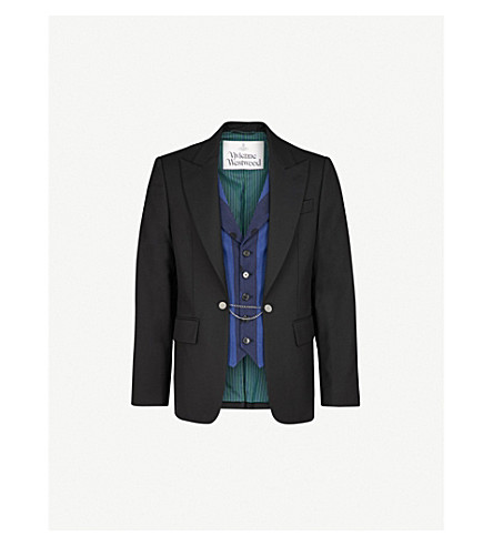 VIVIENNE WESTWOOD Regular-fit wool-blend jacket and waistcoat (Black