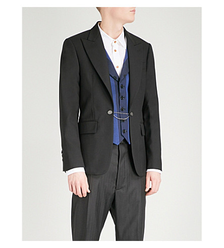 VIVIENNE WESTWOOD Regular-fit wool-blend jacket and waistcoat (Black