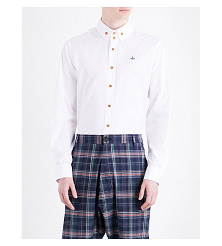 VIVIENNE WESTWOOD Krall classic-fit cotton shirt (White