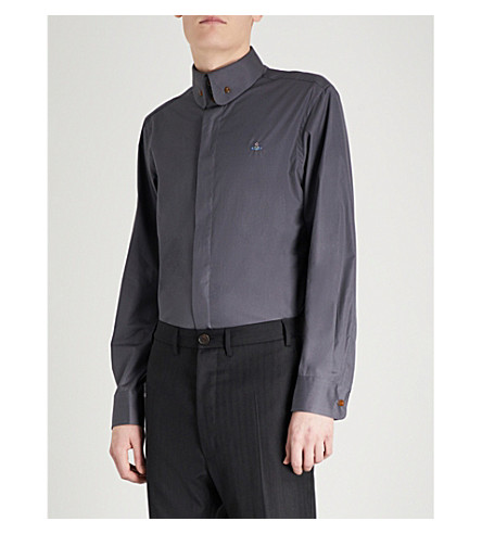 VIVIENNE WESTWOOD Krall cotton-poplin shirt (Charcoal