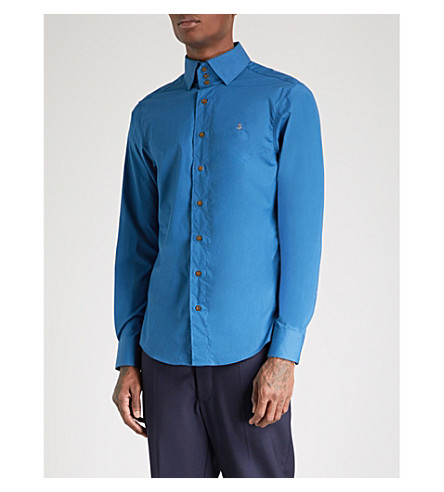 VIVIENNE WESTWOOD Krall classic-fit cotton shirt (Morocc+blue