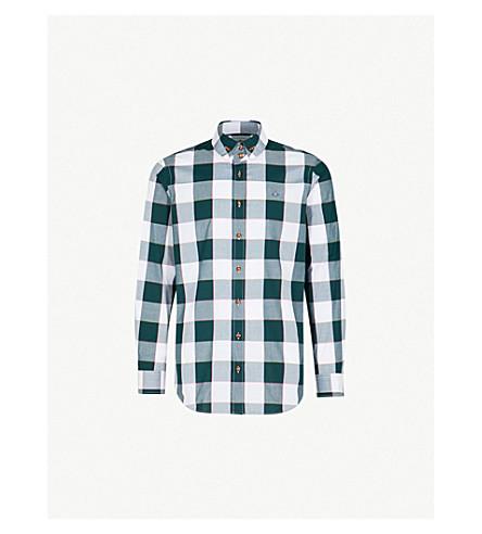 VIVIENNE WESTWOOD Gingham regular-fit cotton shirt (Green