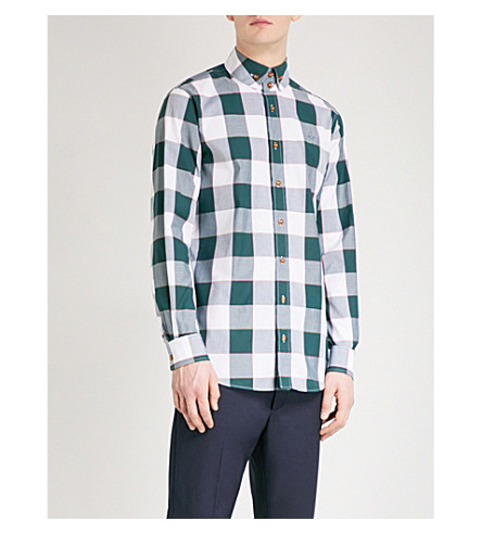 VIVIENNE WESTWOOD Gingham regular-fit cotton shirt (Green