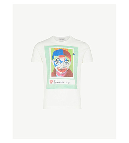 VIVIENNE WESTWOOD Dylan Peru cotton-jersey T-shirt (Off+white
