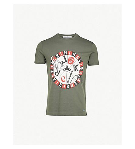VIVIENNE WESTWOOD Joker organic cotton-jersey T-shirt (Green