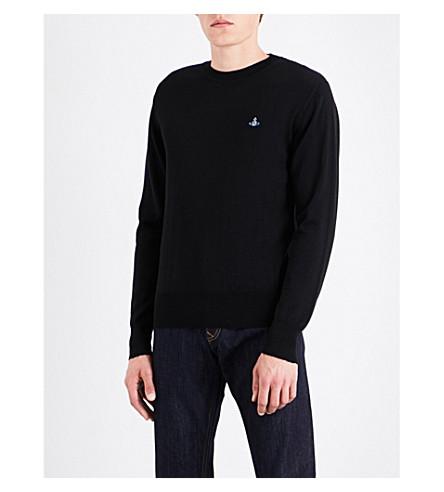 VIVIENNE WESTWOOD Crewneck wool jumper (Black