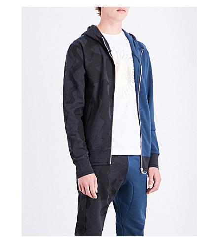 VIVIENNE WESTWOOD Turtle cotton-jersey hoody (Blue+black