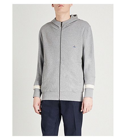 VIVIENNE WESTWOOD Orb cotton-jersey hoody (Grey+marl
