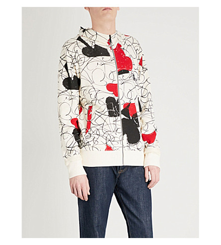 VIVIENNE WESTWOOD House of Cards cotton and linen-blend hoody (White+print