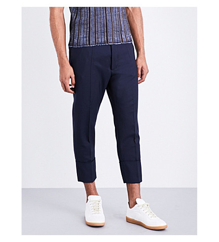 VIVIENNE WESTWOOD James Bond regular-fit tapered cotton-twill trousers (Navy