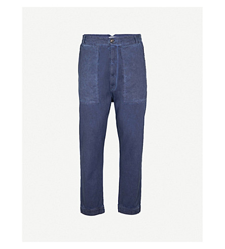 VIVIENNE WESTWOOD Regular-fit tapered denim trousers (Faded+blue