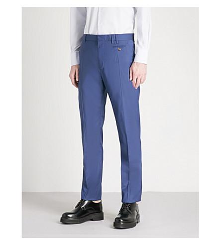 VIVIENNE WESTWOOD Regular-fit straight wool-blend trousers (Blue